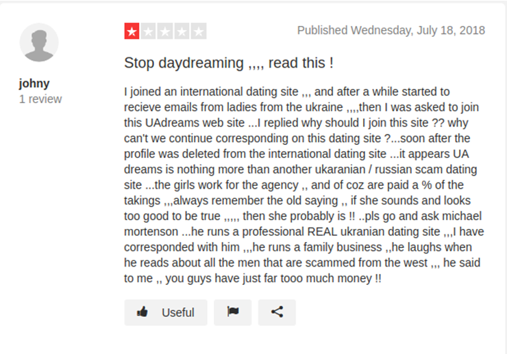 Uadreams Scams Reviews | Possible troubles